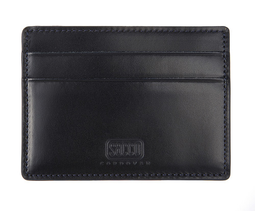 cordovan card case navy