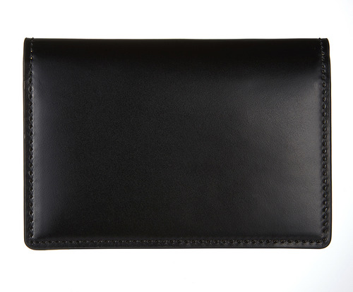 cordovan business card wallet black