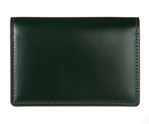 cordovan business card wallet green