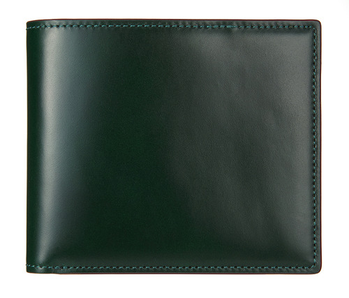cordovan middle wallet green
