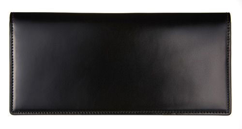 cordovan long wallet black
