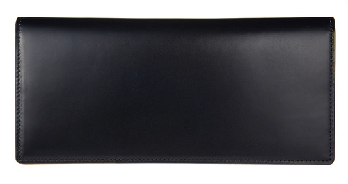 cordovan long wallet navy