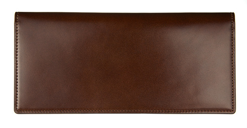 cordovan long wallet brown