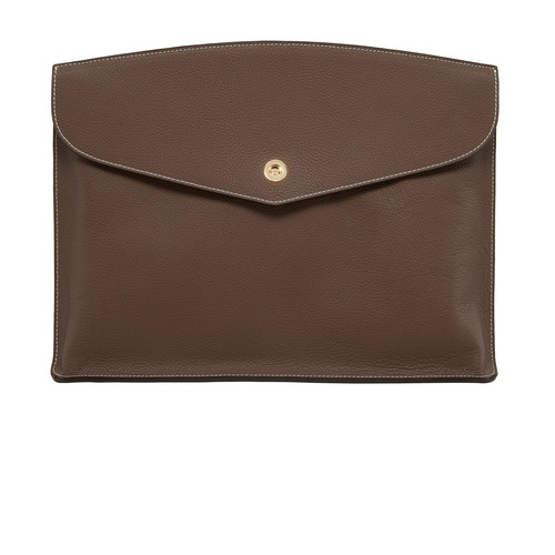 GREY BROWN ClutchBag - ADAM'S PEACH