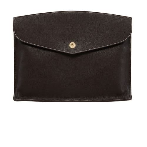 DARK BROWN Clutch bag - ADAM'S PEACH