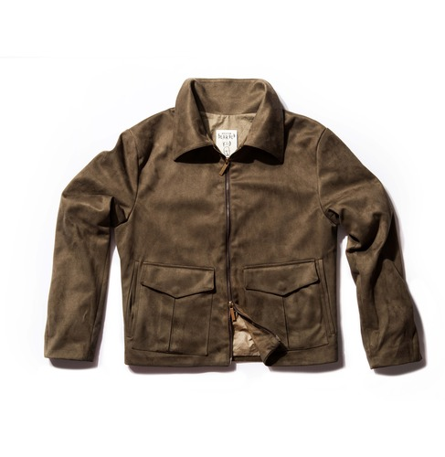 Suede jacket_khaki - BEARDED KID
