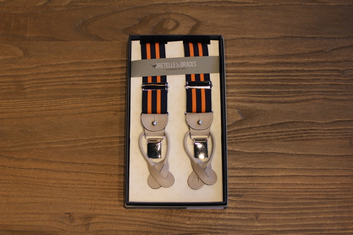 BRETELLE BRACES - NAVY & ORANGE