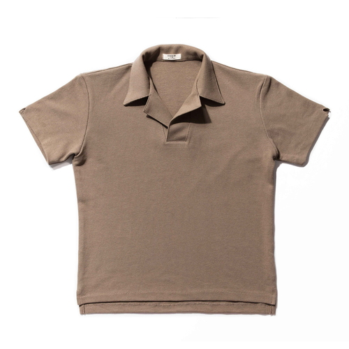 Terry Cotton Polo_Khaki