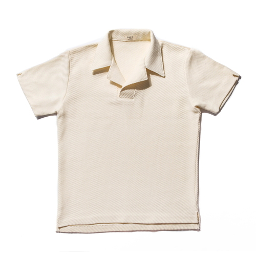 Mesh Cotton Polo_Cream
