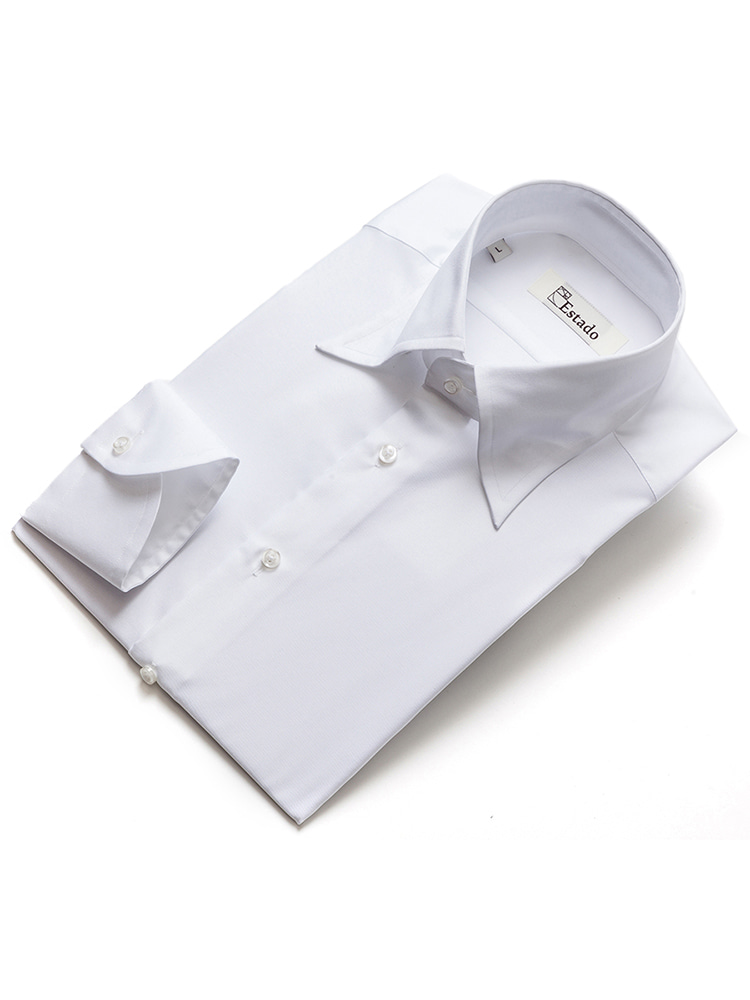 Cotton shirts - Solid (Long-point/ White)