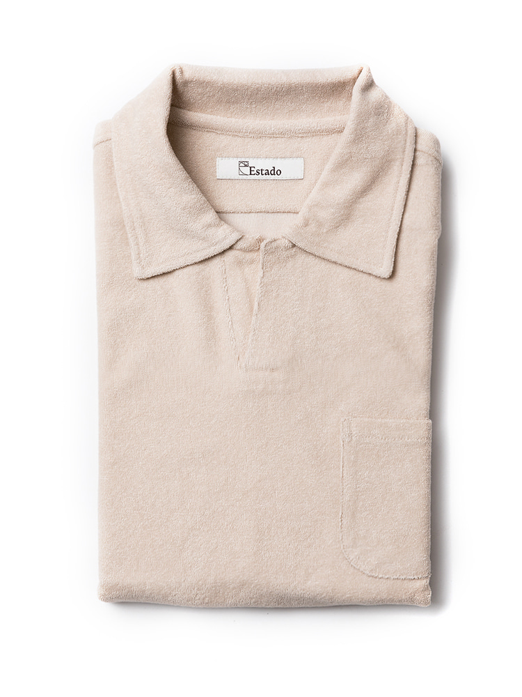 Pique Shirts - TERRY COTTON (beige)
