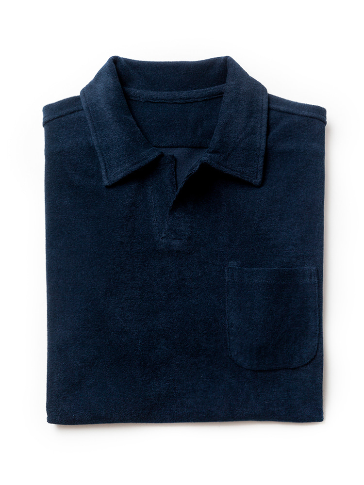 Pique Shirts - TERRY COTTON (Navy)