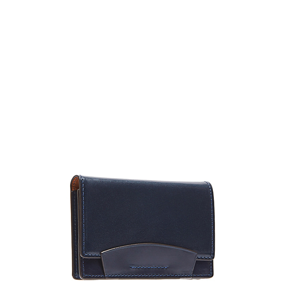 Navy Bridle Leather Card case