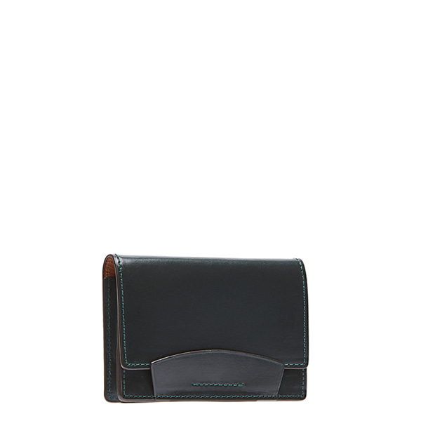 Dark green Bridle Leather Card case