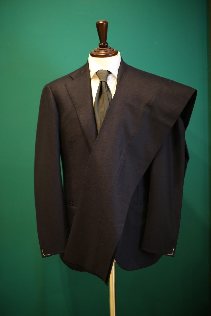 Lamarche Napoli navy flannel suit made by RingJacket(라마르쉐나폴리by링자켓)