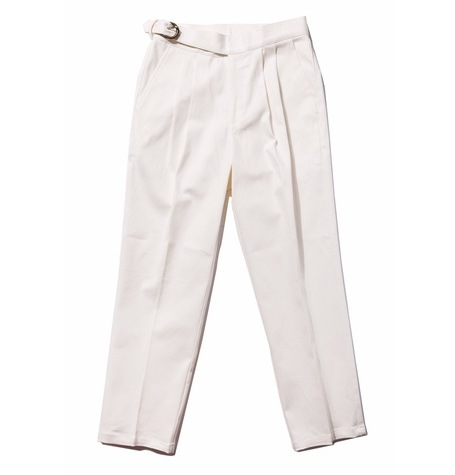 White denim / 2 tuck Gurkha pants