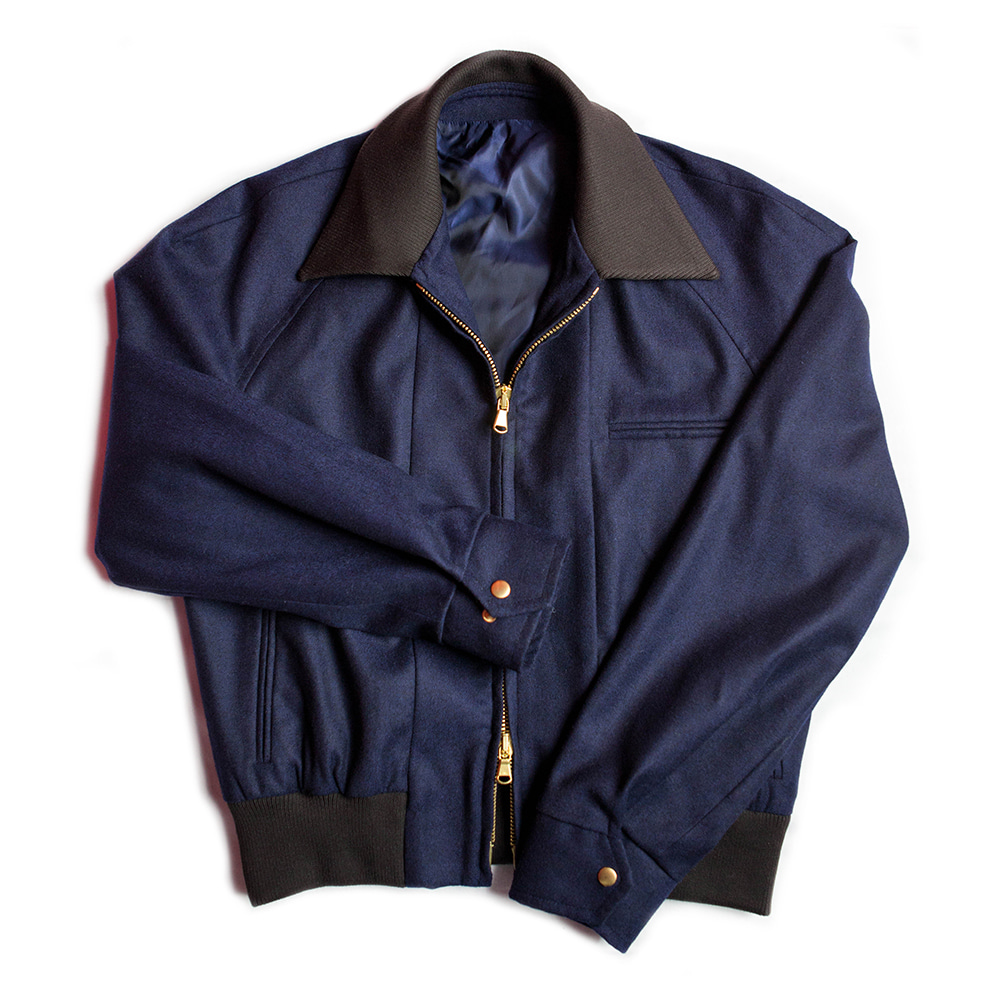 Crop Bomber Jacket (Navy color)Chadprom(채드프롬)