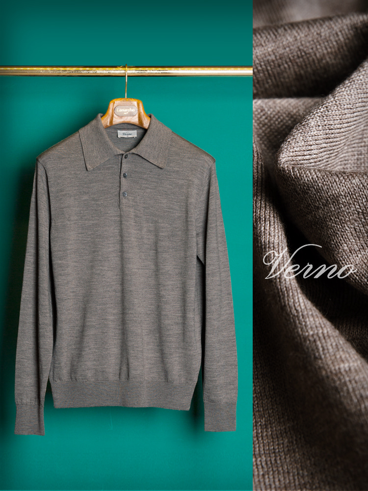 VERNO_Polo Pk knit taupe(베르노)