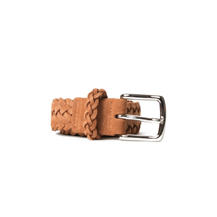 BRAIDED SUEDE BELT (SNUFF) Esfai(에스파이)