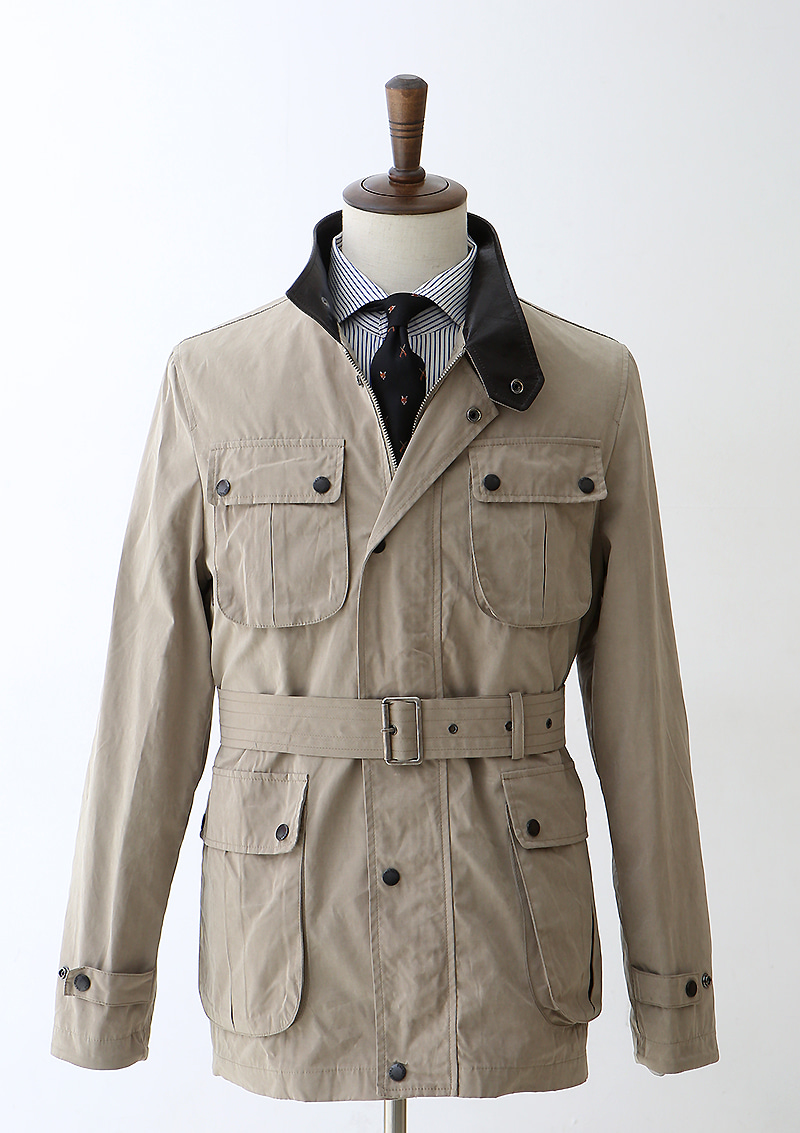 Waxed Cotton MoTo Jacket - Light Beige centro(첸트로)