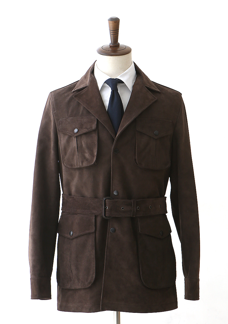 Suede Safari Jacket - Choco Browncentro(첸트로)