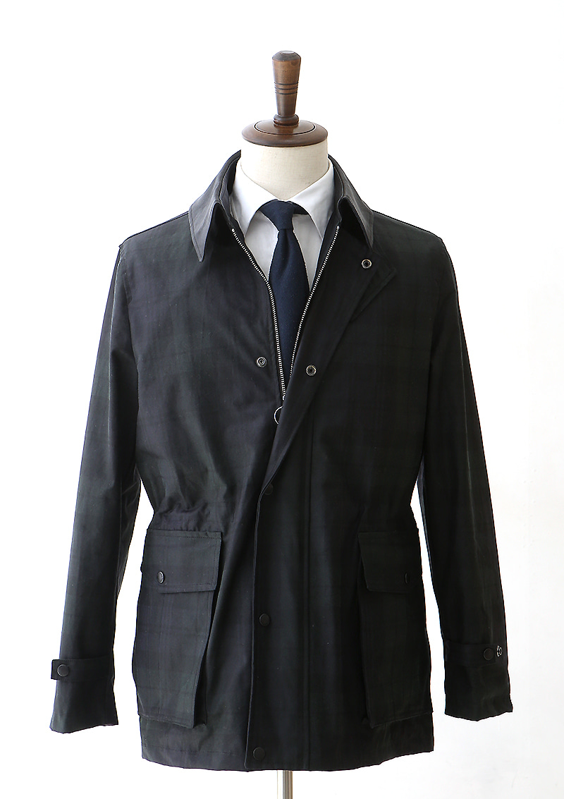 Waxed Jacket - Black Watch Tartan Checkcentro(첸트로)