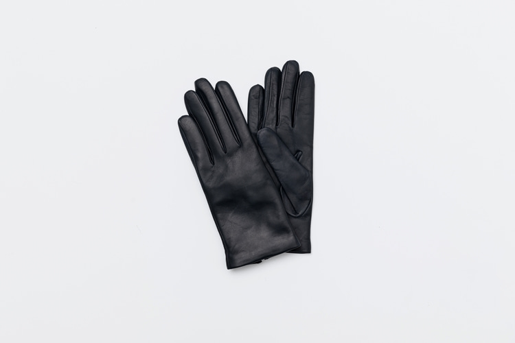 omega gloves Woman Nappa Navy (짙은 네이비, 여성용)
