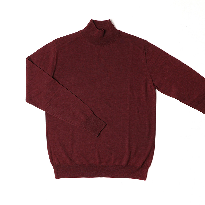 Half Turtleneck Sweater BurgundyChad prom(채드프롬)