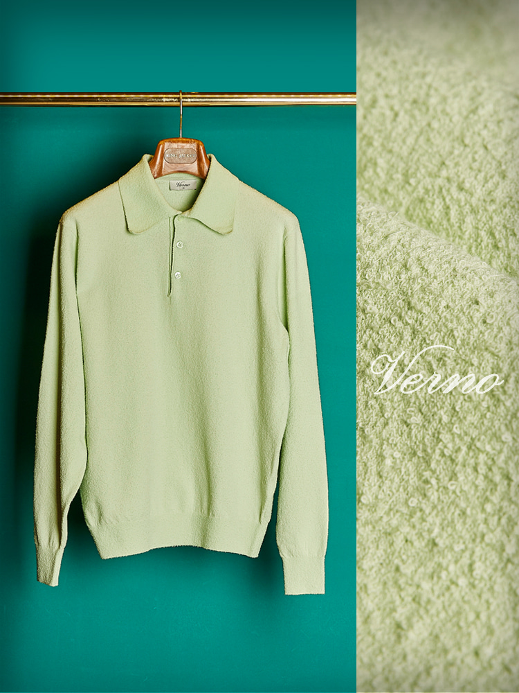 Boucle yarn polo knit-MintVerno(베르노)