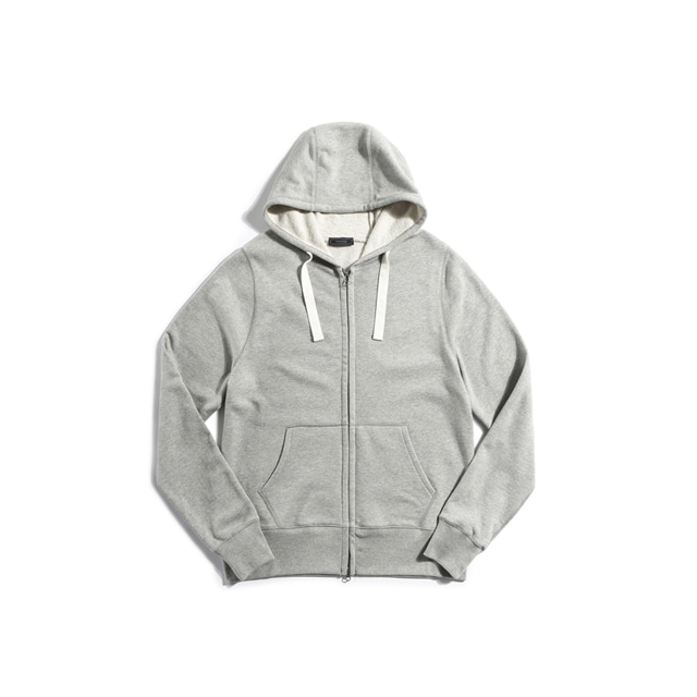 Sweat zip parka(GRAY)Pistilo