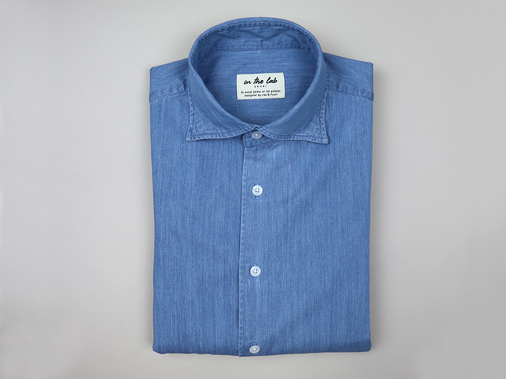 signature shirt [light denim]in the lab(인더랩)