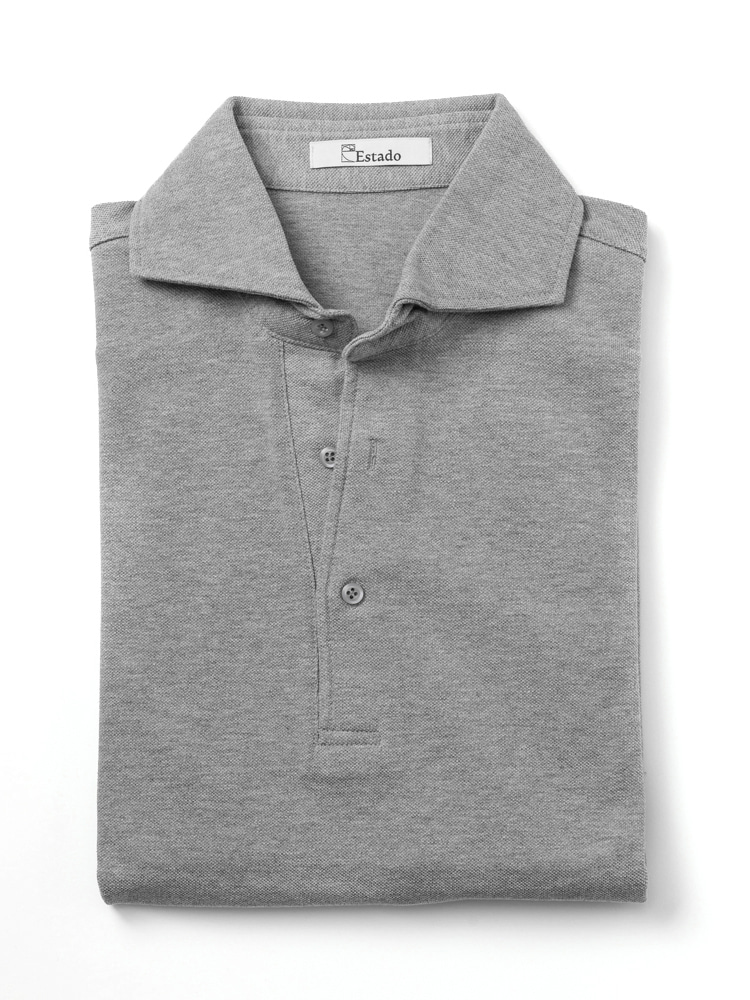 Pique shirts - Wide collar (Grey)ESTADO(에스타도)