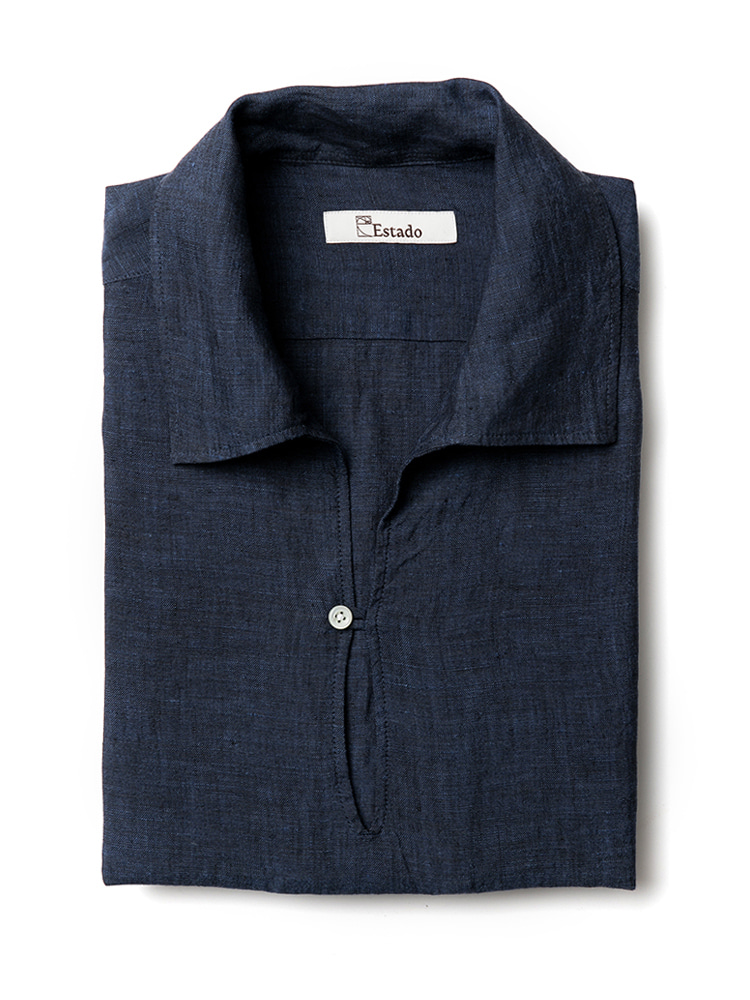 Linen shirts - Capri (Navy)estado(에스타도)