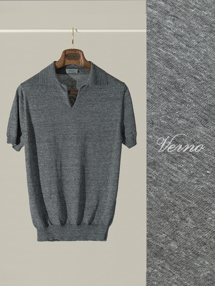 V'Line Polo knit middle greyVERNO(베르노)