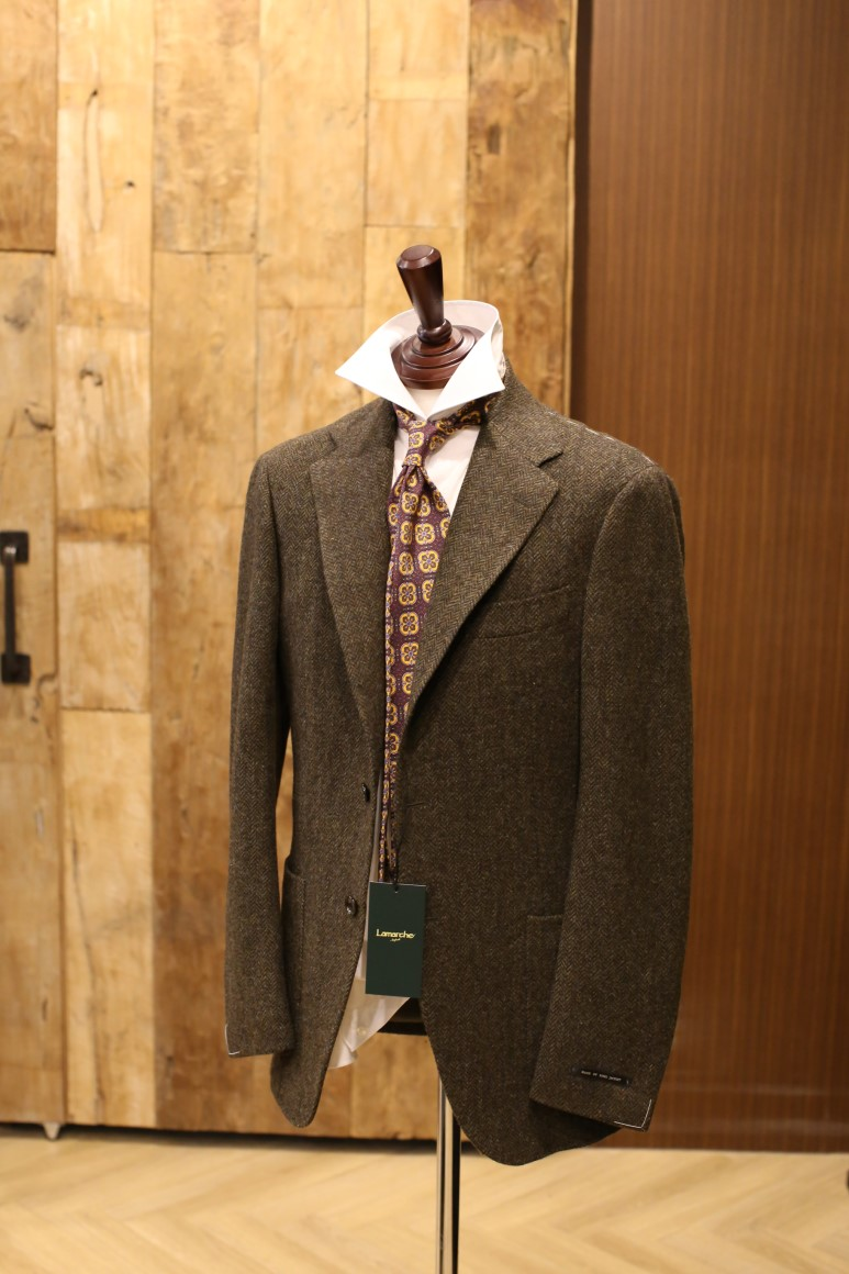 Moon Tweed OLIVE Herringbone JACKETLamarche Napoli made by RingJacket(라마르쉐나폴리by링자켓)