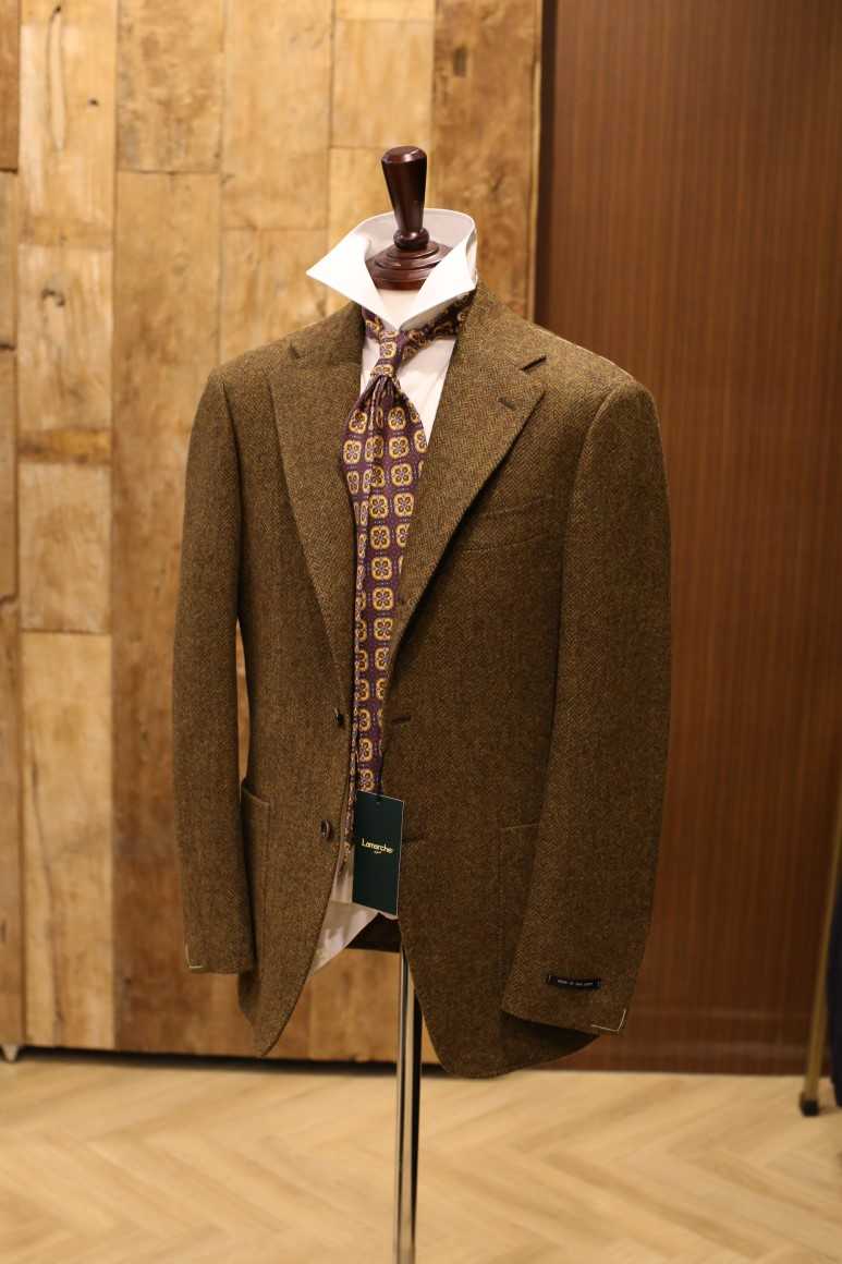 Moon Tweed LIGHT BROWN Herringbone JACKETLamarche Napoli made by RingJacket(라마르쉐나폴리by링자켓)