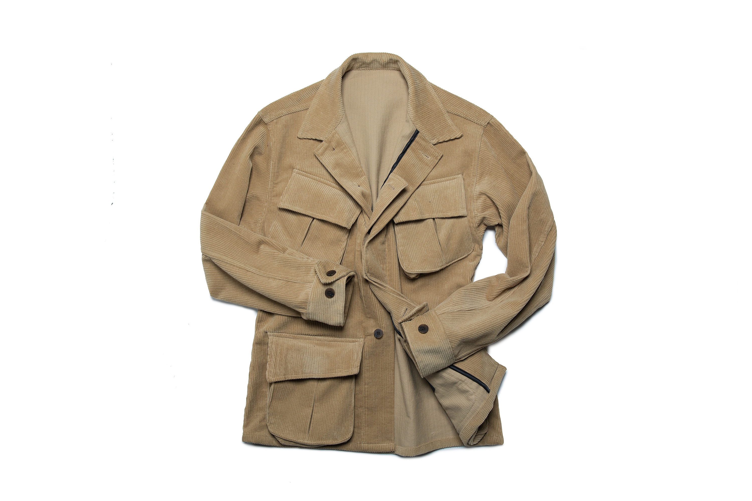 corduroy safari jacket beigeniddle&stitch(니들앤스티치)