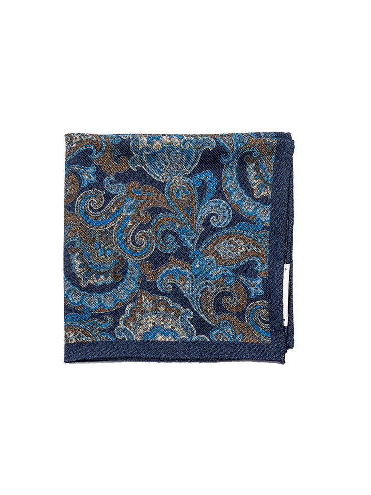 pocket squares 04 - Navy paisley & flowerEstado x Albeni(에스타도)