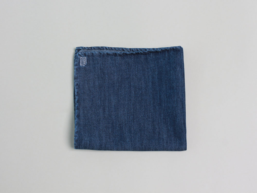 denim pocket square [dark]in the lab(인더랩)