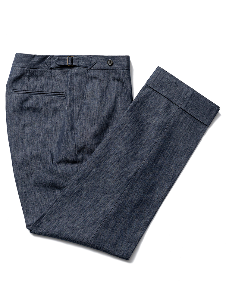 (Limited) Beltless pants - DRAPERS Denim (one pleats)ESTADO(에스타도)