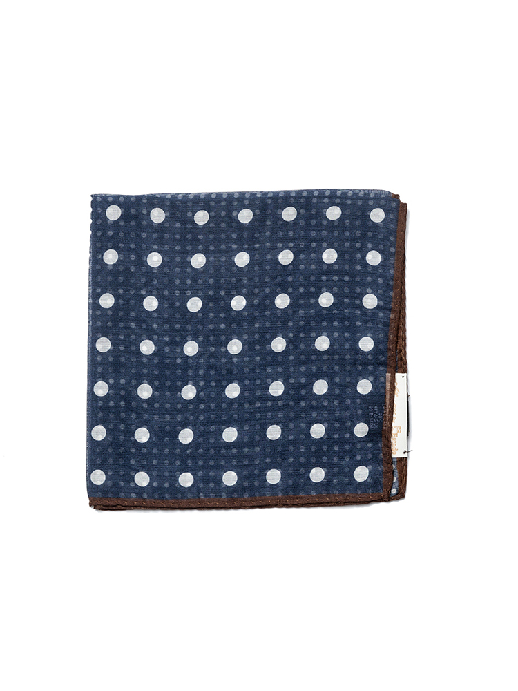 pocket squares 01 - Navy dot patternEstado x Albeni(에스타도)