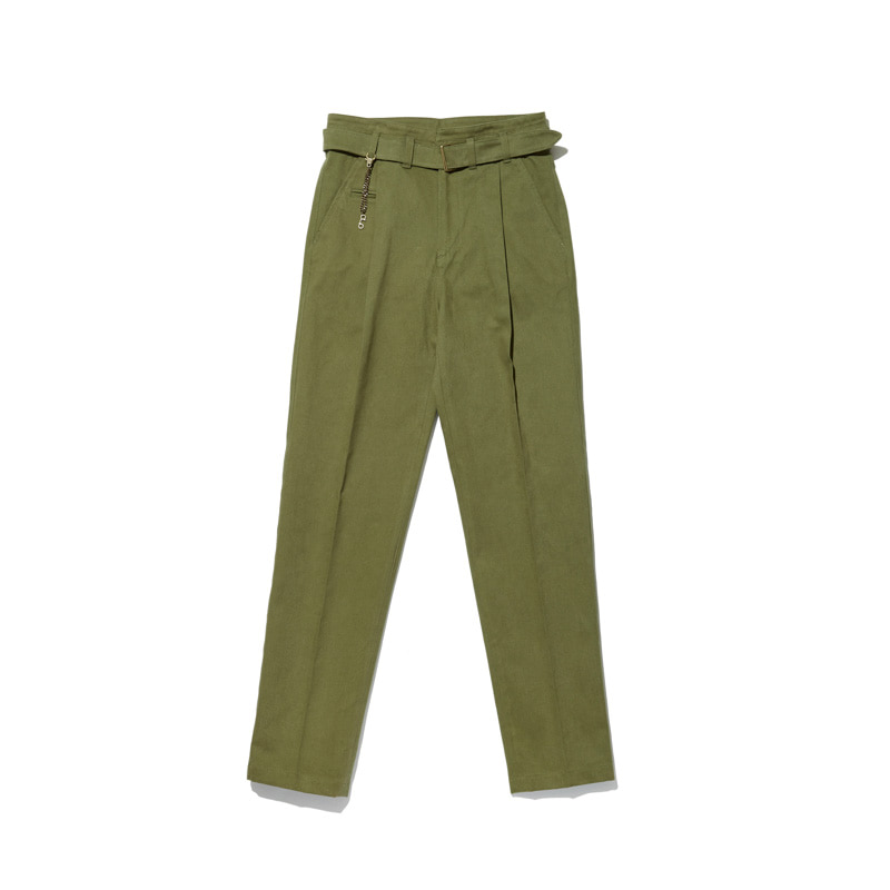 Cotton Trousers 'VENT' Olive GreenCHADPROM(채드프롬)