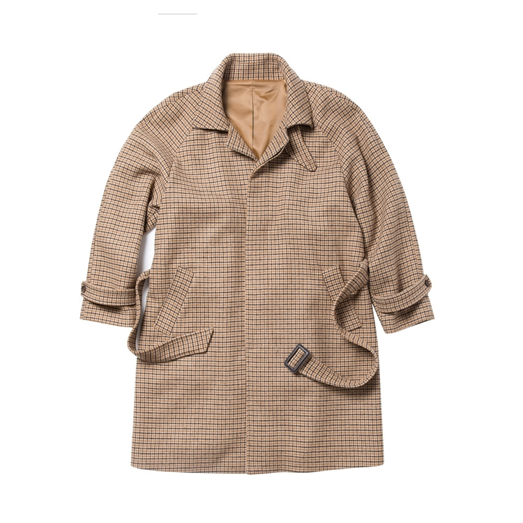 18P6 BALMACAAN COAT_Brown checkbearded kid비얼디드키드