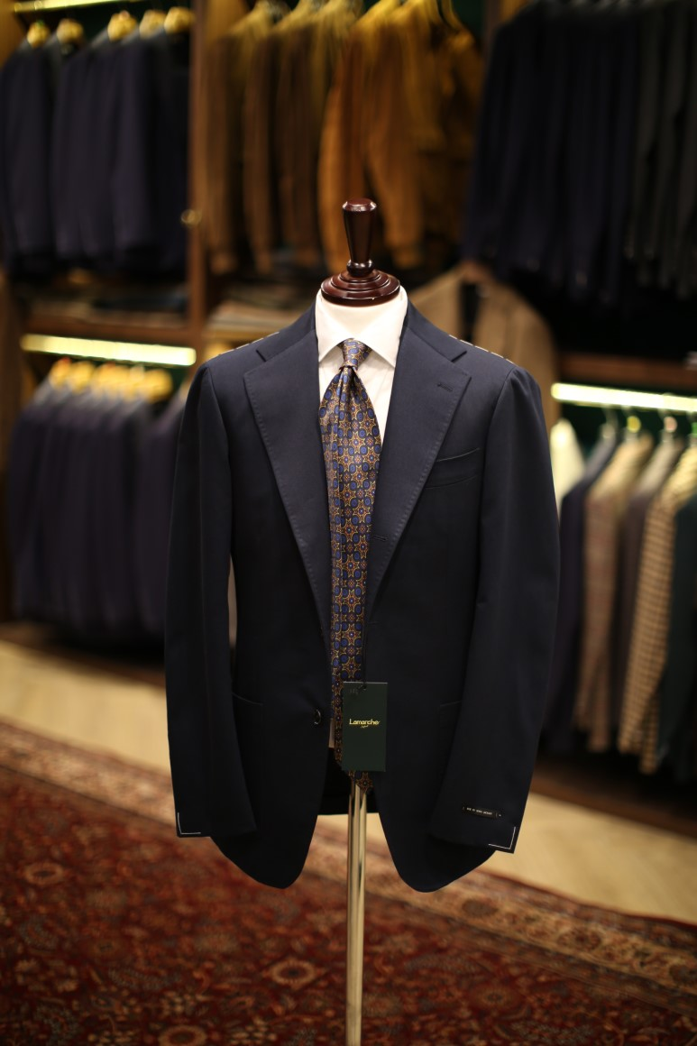 LMJ-05 Cotton Dark navy  SUITLamarche Napoli made by RingJacket (라마르쉐나폴리by링자켓)
