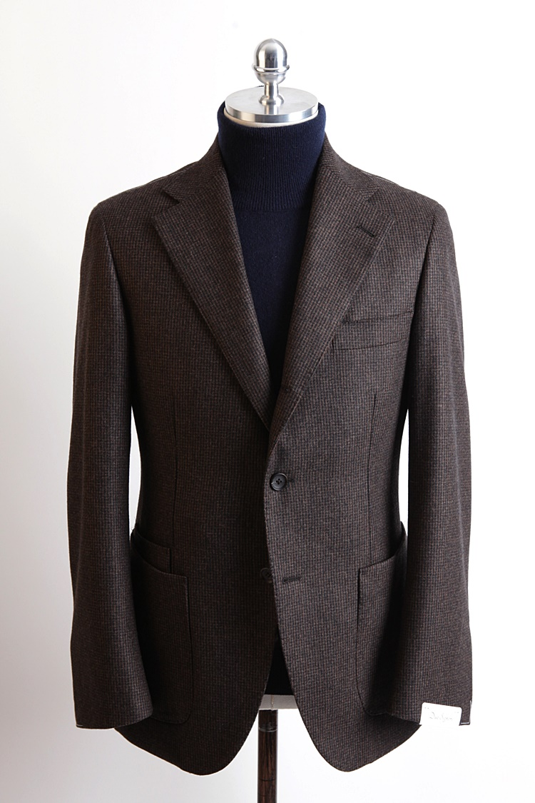 Brown Color Hound Tooth Check JacketDuesignori(두에시뇨리)