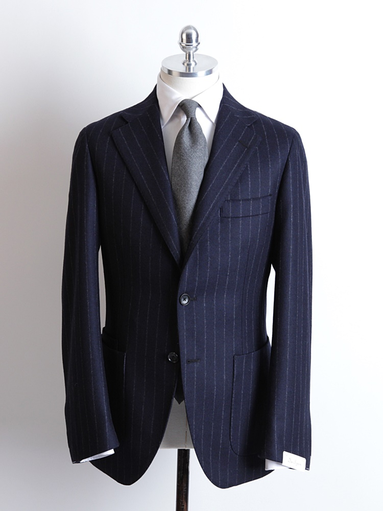 Navy Color Chalk Stripe SuitDuesignori(두에시뇨리)