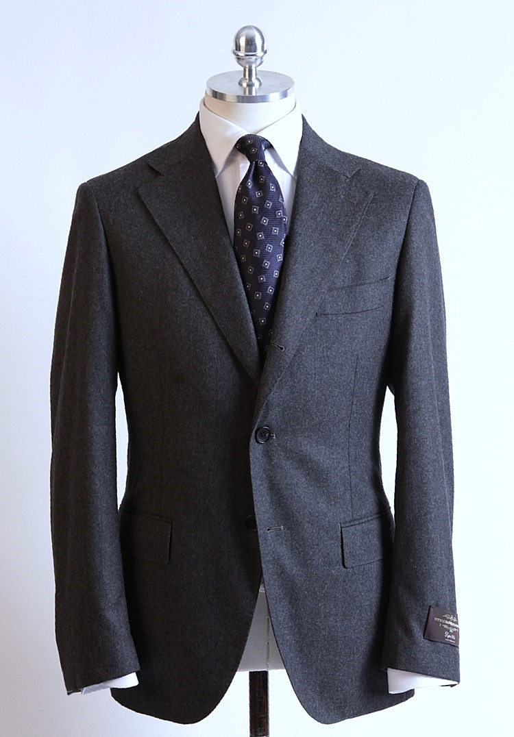 "Vitale Barberis Canonico 120's Flannel"" Dark Gray ColorDuesignori(두에시뇨리)"