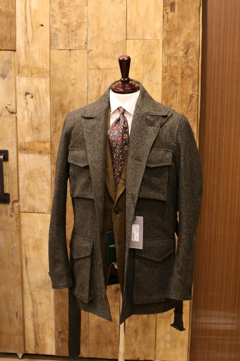 MOON TWEED OLIVE HERRINGBONE Sartorial Field JacketRING JACKET(링자켓)
