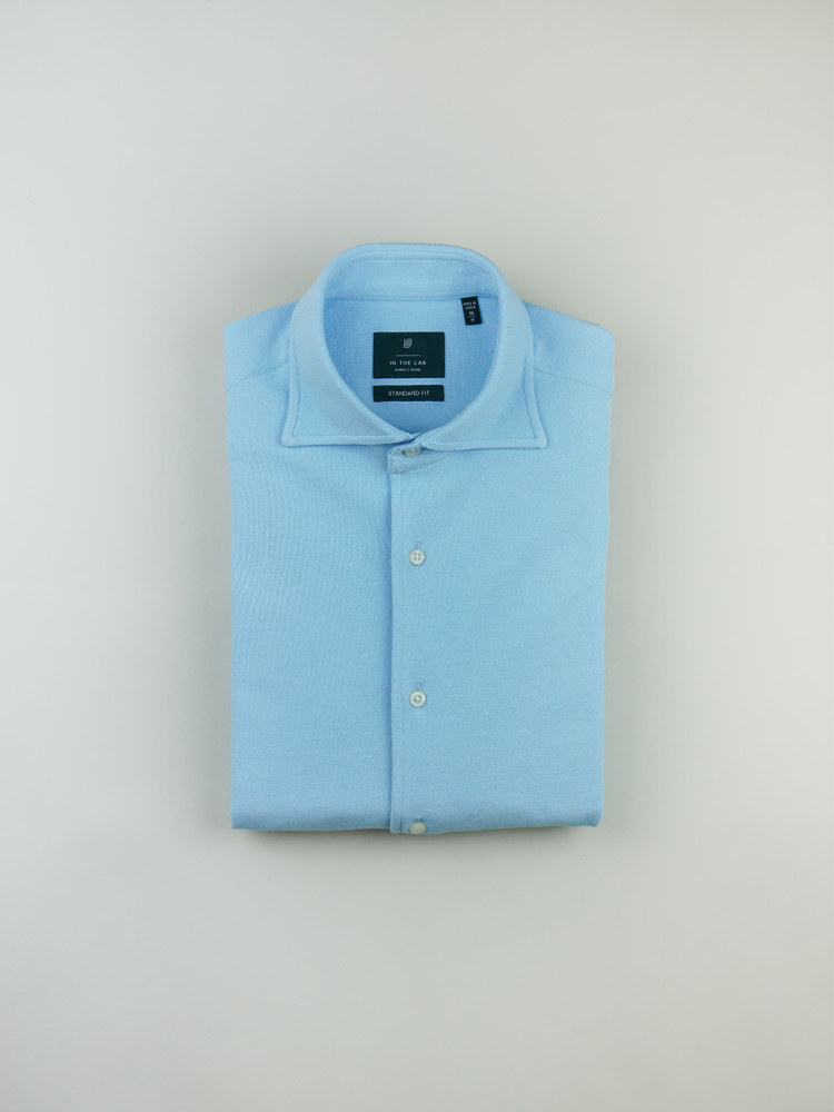 19 s/s Pique Shirt bluein the lab(인더랩)