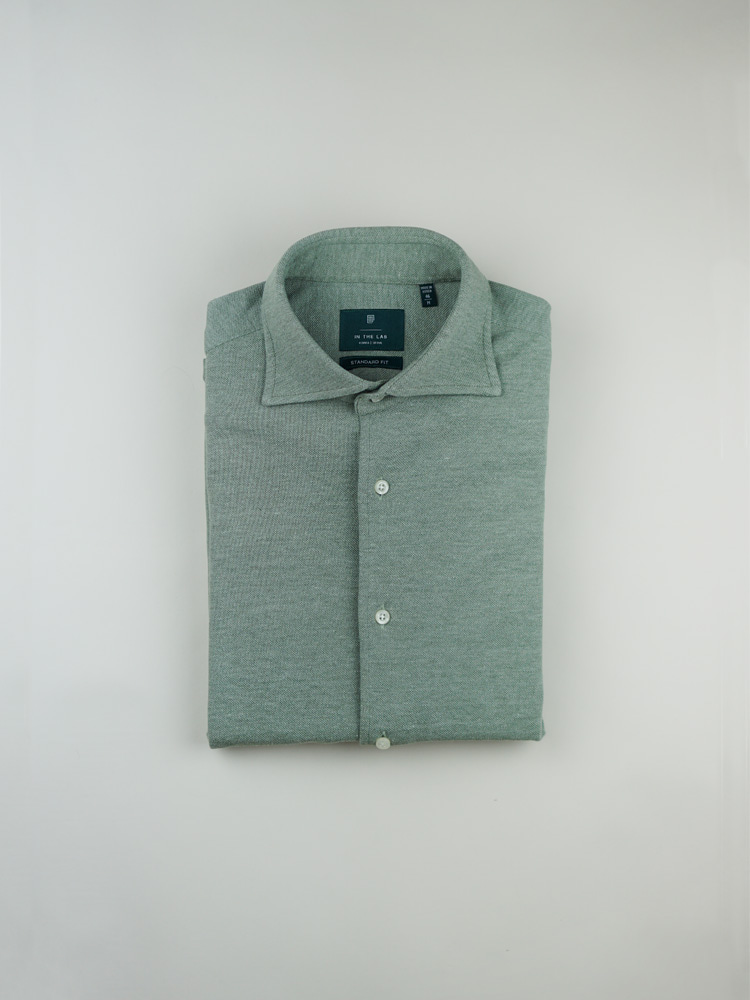 19 s/s Pique shirt khakiin the lab(인더랩)